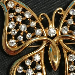 Monet Jewelry - Vintage Monet Gold Butterfly Brooch